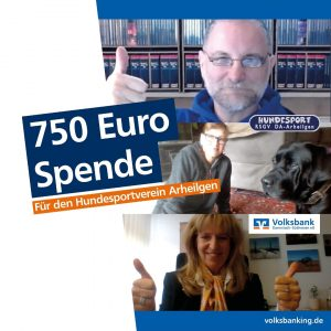 Screnshots Videokonferenz Spendenübergabe